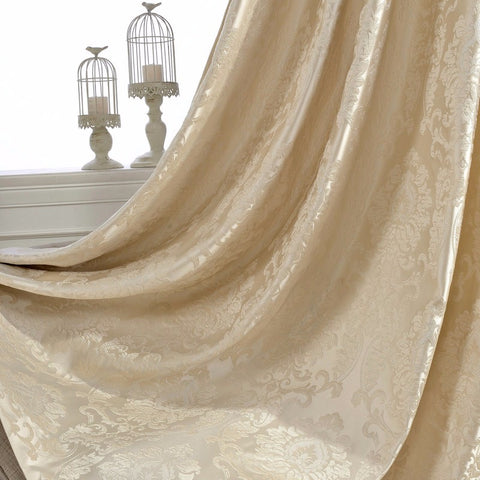 Ivory Damask Curtains - F. W. Woolworth Co. Online Store