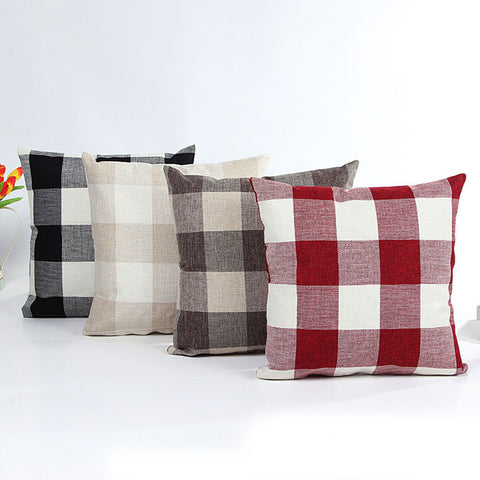 Buffalo Plaid Pillow Case | Assorted Colors