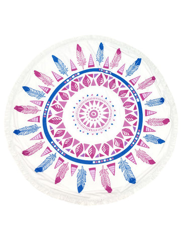 Feather Round Beach Towel - F. W. Woolworth Co. Online Store