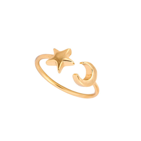 Moon and Stars Adjustable Ring - F. W. Woolworth Co. Online Store