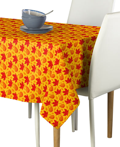 "Autumn Leaves Tablecloth 60""x84"""