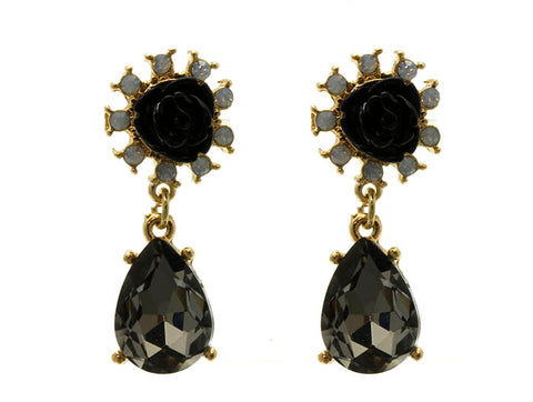 Black Rose Post Earrings - F. W. Woolworth Co. Online Store