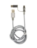 3-in-1 Mobile Device Charger - Metallic - F. W. Woolworth Co. Online Store
