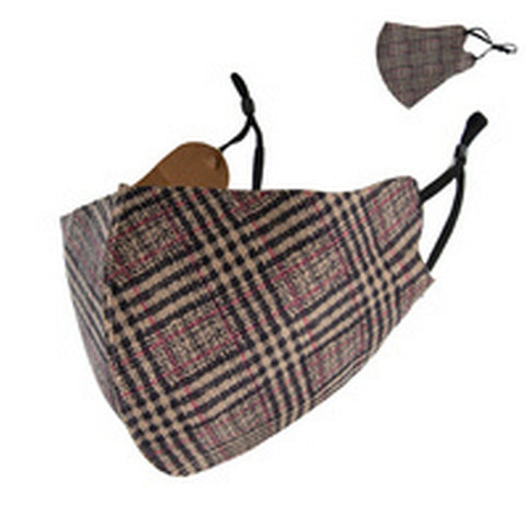 Plaid Reusable Face Mask