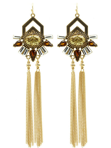 Chain Fringe Earrings - F. W. Woolworth Co. Online Store