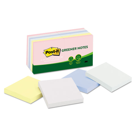 Recycled Note Pads, 3 X 3, Assorted Helsinki Colors, 100-Sheet, 12/pack - F. W. Woolworth Co. Online Store