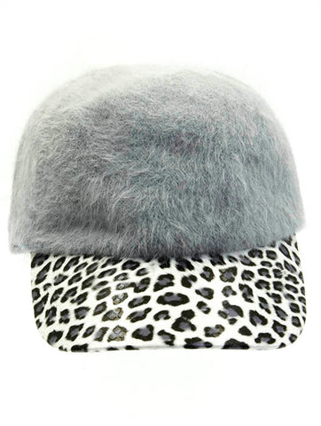 Leopard Print Fuzzy Wool Hat - F. W. Woolworth Co. Online Store
