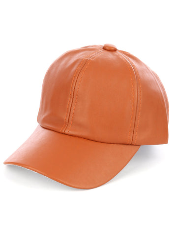 Faux Leather Cap - F. W. Woolworth Co. Online Store