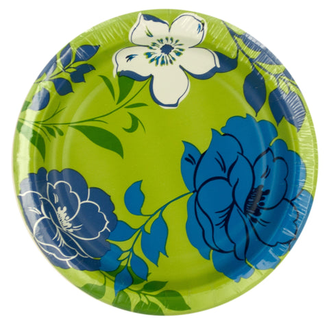 Blue Breeze Floral Party Plate Pack - F. W. Woolworth Co. Online Store