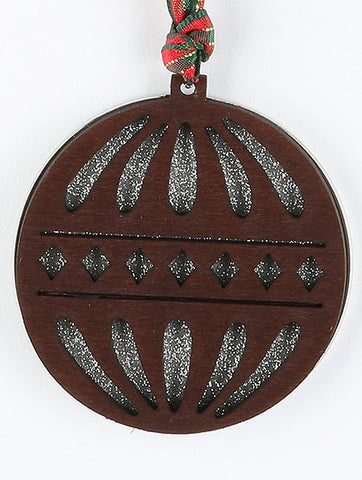 Glitter Woods Christmas Ornament