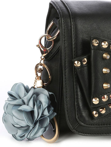 Blue Nylon Flower Bag Charm - F. W. Woolworth Co. Online Store