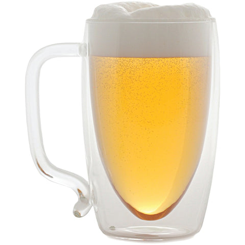 Starfrit 17-ounce Double-wall Glass Beer Mug - F. W. Woolworth Co. Online Store