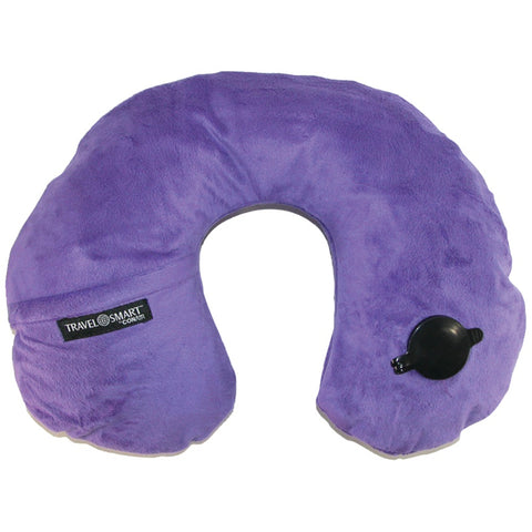 Travel Smart By Conair Ez Inflate Fleece Neck Rest (purple) - F. W. Woolworth Co. Online Store