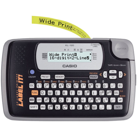 Casio 16-digit, 2-line Label Printer