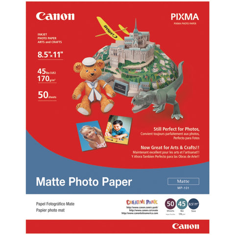 "Canon Matte Photo Paper (8.5""l X 11""w; 50 Pk) - F. W. Woolworth Co. Online Store"