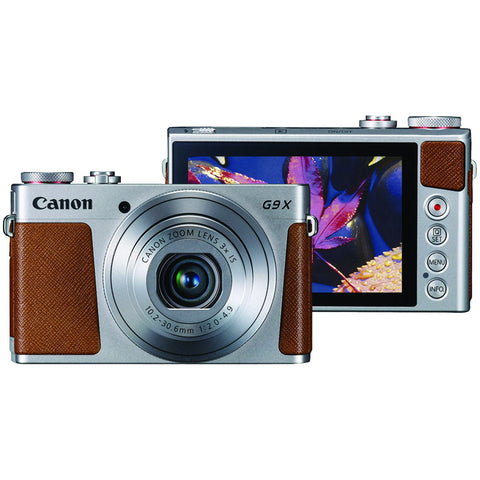 Canon 20.0-megapixel Powershot G9x Digital Camera (silver) - F. W. Woolworth Co. Online Store