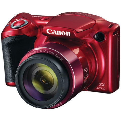 Canon 20.0-megapixel Powershot Sx420 Is Digital Camera (red) - F. W. Woolworth Co. Online Store