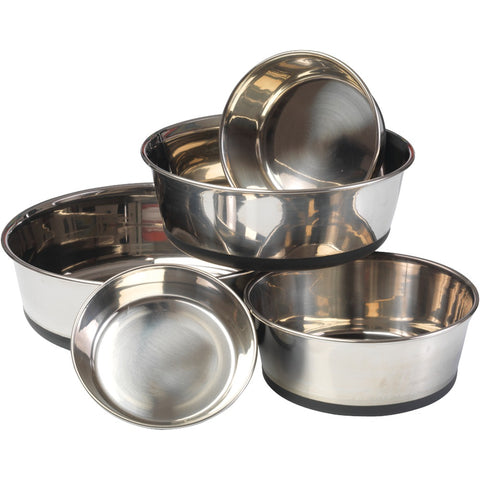 House Of Paws Stainless Steel Dog Bowl With Silicon Base (l) - F. W. Woolworth Co. Online Store
