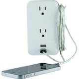 General Electric 2-outlet Wall Tap With 2 Usb Ports - F. W. Woolworth Co. Online Store