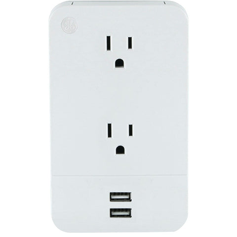 General Electric 2-outlet Wall Tap With 2 Usb Ports