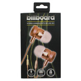 Billboard Stereo Earbuds With Microphone (gold) - F. W. Woolworth Co. Online Store
