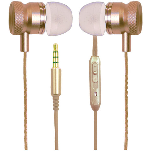 Billboard Stereo Earbuds With Microphone (gold)