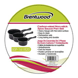 Brentwood 3-piece Carbon Steel Saucepan Set - F. W. Woolworth Co. Online Store