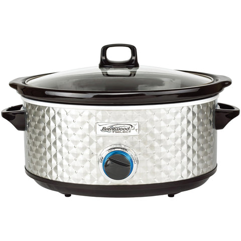 Brentwood Appliances 7-quart Slow Cooker (silver)