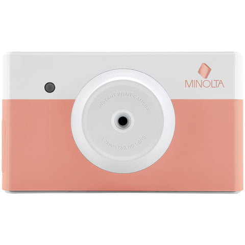 Minolta Instapix Instant-print Digital Camera (coral Pink) - F. W. Woolworth Co. Online Store