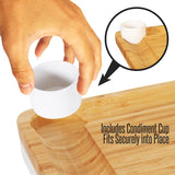 Nutrichef Bamboo Cheese Cutting Board