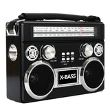 Supersonic 3 Band Radio With Bluetooth And Flashlight (black)