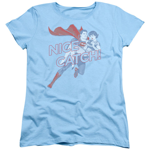 Superman - Nice Catch Short Sleeve Women's Tee - F. W. Woolworth Co. Online Store