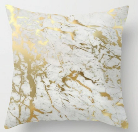 Gold Marble Pillow Case