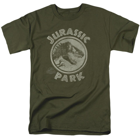 Jurassic Park - JP Stamp Short Sleeve Adult 18/1 - F. W. Woolworth Co. Online Store