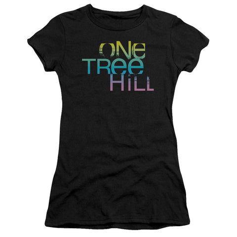 One Tree Hill - Color Blend Logo Short Sleeve Junior Sheer - F. W. Woolworth Co. Online Store