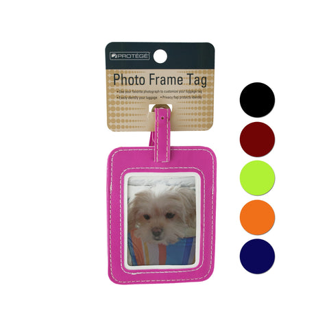 Photo Luggage Tag Assorted Colors
