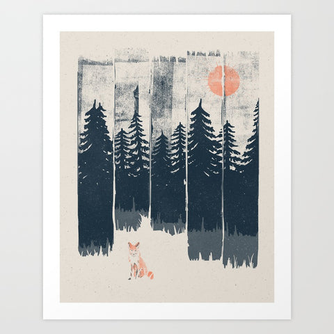 A Fox in the Wild Art Print