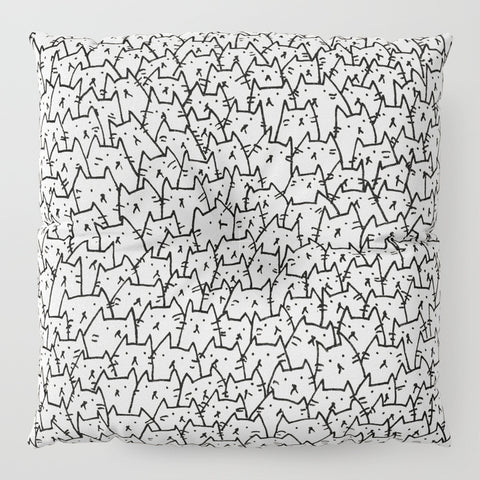 A Lot of Cats Floor Pillow - F. W. Woolworth Co. Online Store