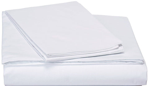 White Fitted Sheet & Pillow Cases Set (FTS098765)