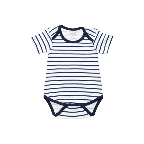Onesie in blue marseille stripe - F. W. Woolworth Co. Online Store