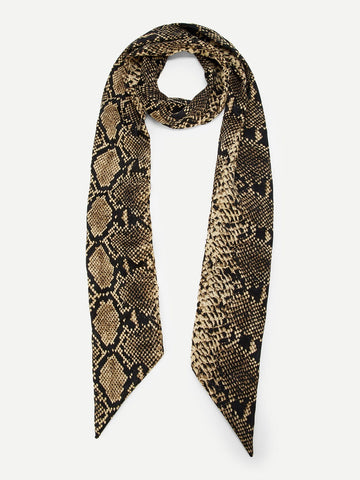 Snakeskin Pattern Skinny Scarf - F. W. Woolworth Co. Online Store