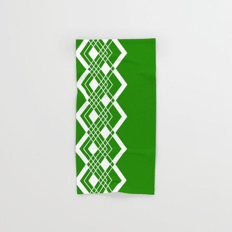 Geometric Green Hand & Bath Towel Set - F. W. Woolworth Co. Online Store