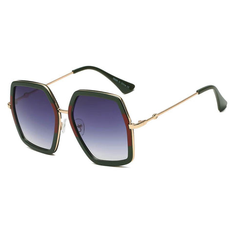 CORBIN | S2059 - Women Square XXL Retro Oversize Sunglasses