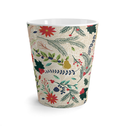 Winter Florals Latte mug