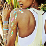 Illia Metallic Temporary Flash Tattoos Pack