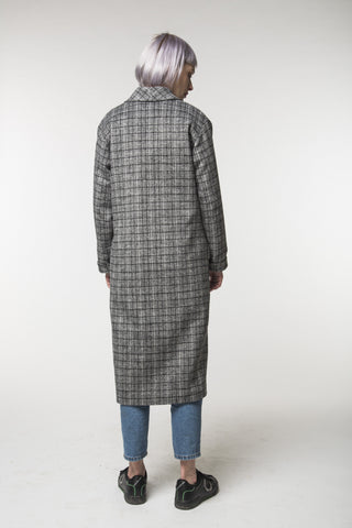 Long Check Coat / Spring - Autumn / Women's Coat / Collection 2018 - F. W. Woolworth Co. Online Store