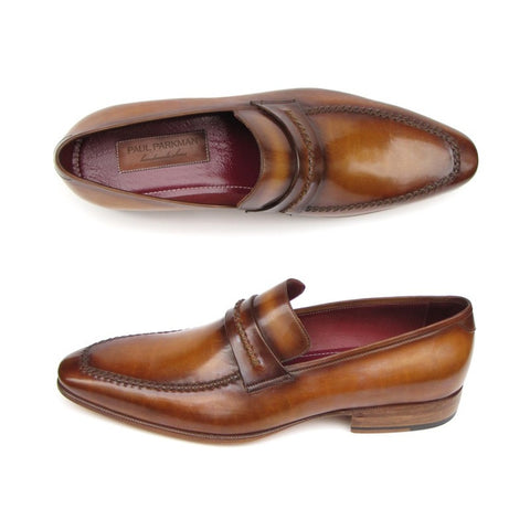Paul Parkman Men's Loafer Brown Leather Shoes (ID#068-CML) - F. W. Woolworth Co. Online Store