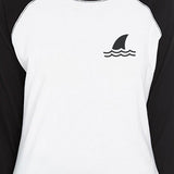 Mini Shark Raglan Tee
