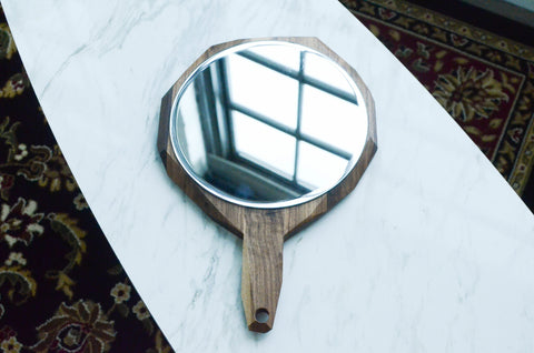 "Geometric Hand Mirror 12"" - F. W. Woolworth Co. Online Store"