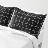 Grid Simple Line Pillow Shams | Set of 2 - F. W. Woolworth Co. Online Store